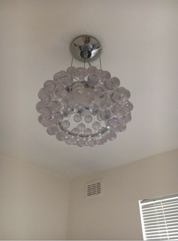 Contemporary Designer Pendant  - Ceiling Light Fitting - Clear Drops