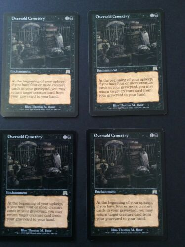 Mtg Magic The Gathering X1 Oversold Cemetry
