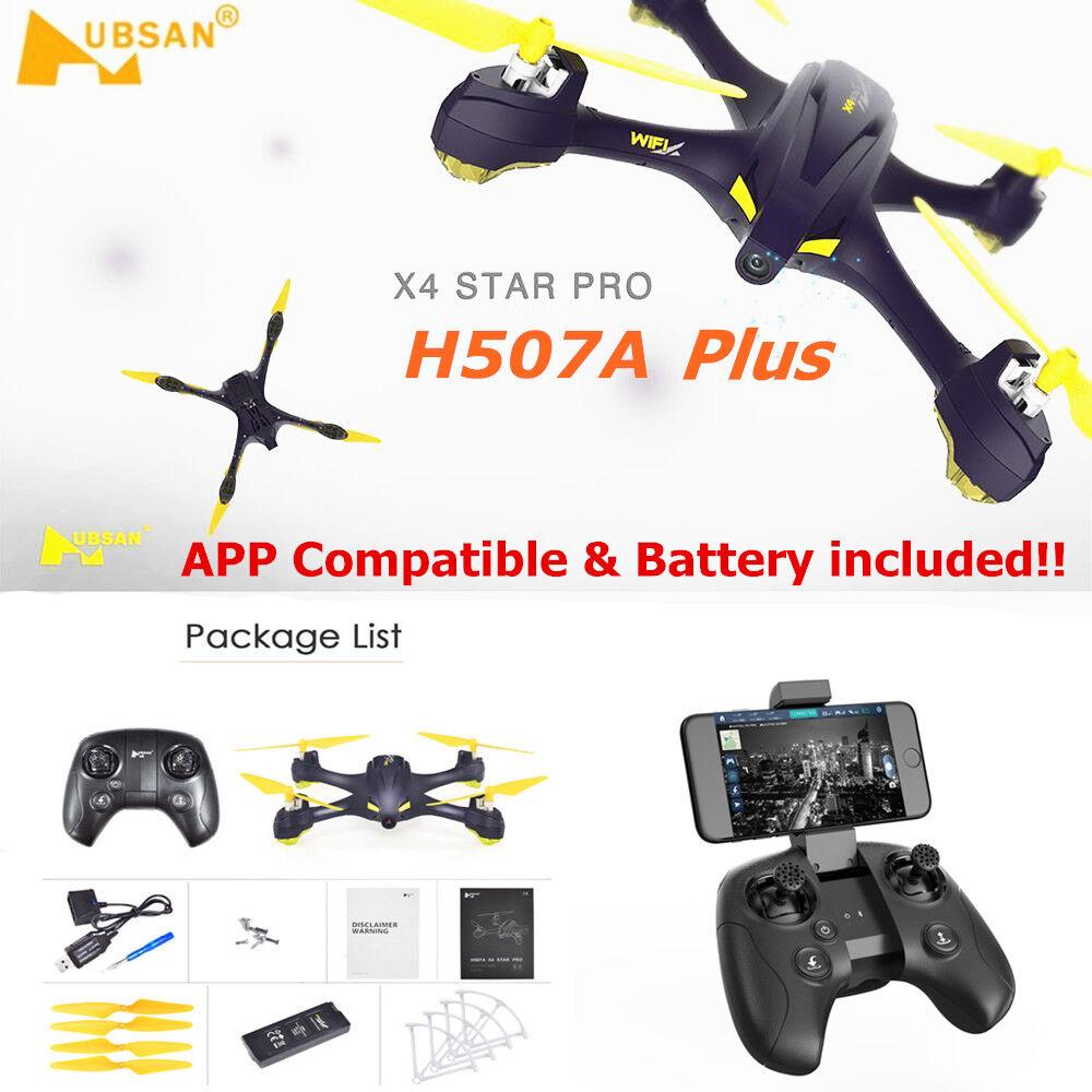 Hubsan h507a + pro x4 wifi fpv - quadcopter drohne w   720p - kamera wegpunkt gps rtf