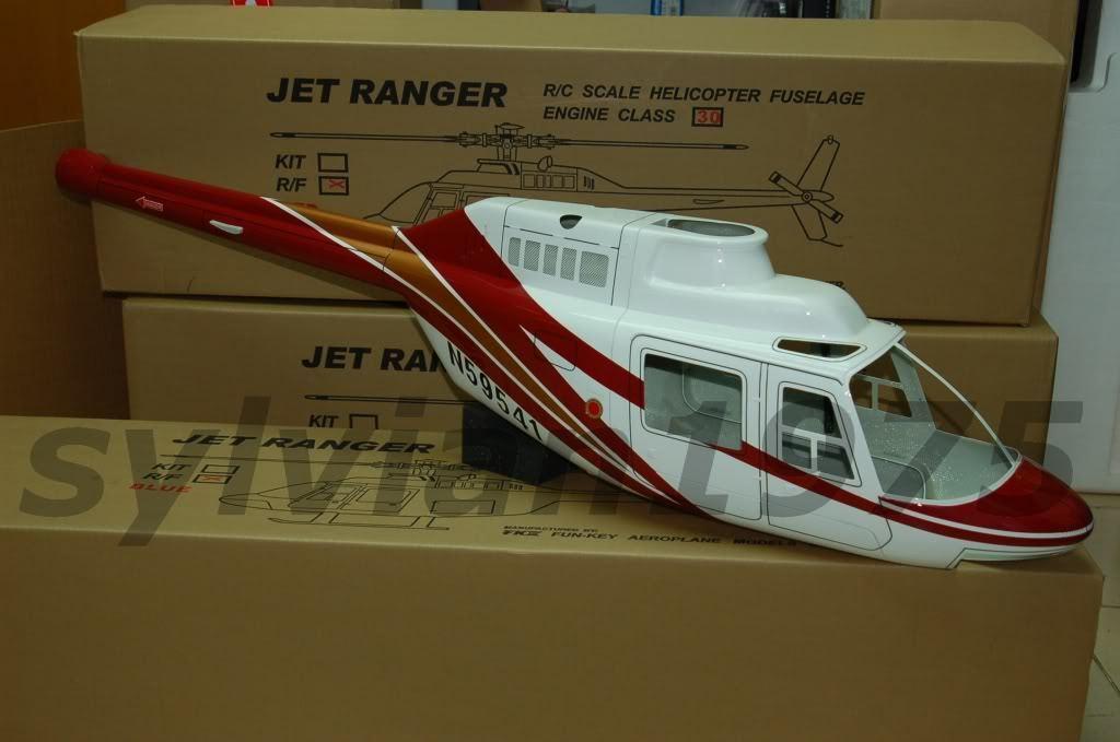 Fuselaje Funkey Jet Ranger para para para el tamaño de .30 (VER.2) rojo  suministramos lo mejor