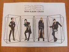 2NE1 - CRUSH (NEW ALBUM) [OFFICIAL] POSTER *NEW* K-POP