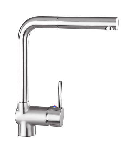 VAF 8890 Armatur Wasserhahn Küche ausziehbare Metallbrause Edelstahl - finish