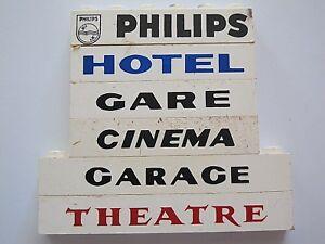 Hotel Gare 6 Lego Sur Détails Panneaux 1960 Cinéma Garage Théâtre System Anciens Lot Philips f67Yybgv