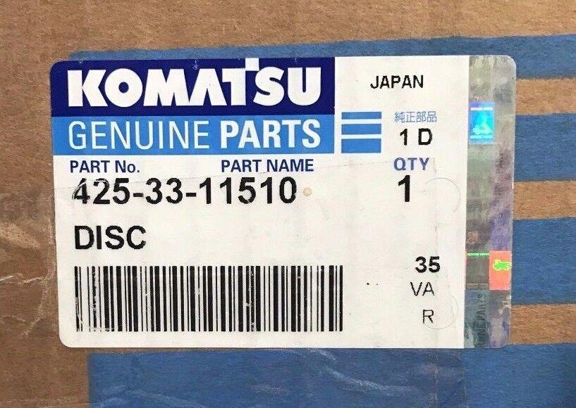 Komatsu Genuine Parts 425-33-11510 Friction Lining Brake Disc Ship