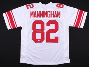 c4f399b3f MARIO MANNINGHAM SIGNED NEW YORK GIANTS ON FIELD STYLE JERSEY JSA ...