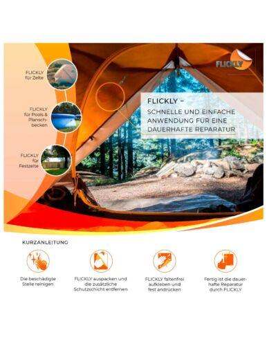 Flickly® Planen Reparatur Pflaster 30cm x 20cm Selbstklebend Zelte Anhänger Weiß
