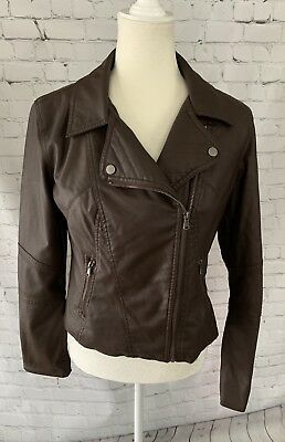 Medium, Black Celebrity Pink Juniors Faux-Leather Jacket