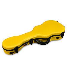 Crossrock Fiberglas Ukulele Case in gelb für Concertukulele