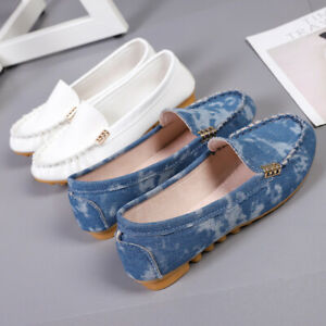 Big-Size-Women-039-s-Breathable-Slip-On-Flat-Shoes-Round-Toe-Loafers-Casual-Sandals