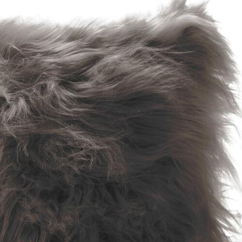 Charcoal Grey Faux Fur Cushion Cover Mongolian Warm Cosy Furry Pillow Cushion