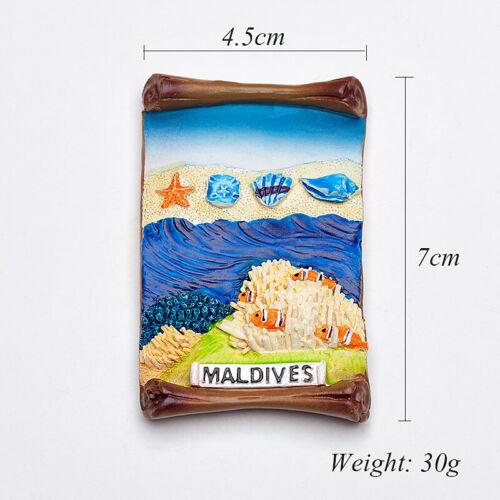 1PC Maldives Seascape Fridge Magnet Refrigerator Magnets Decor Travel Souvenir