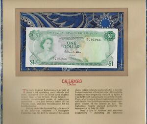 Most-Treasured-Banknotes-Bahamas-1974-1-Dollar-P-35b-AUNC-Prefix-N-1-Allen