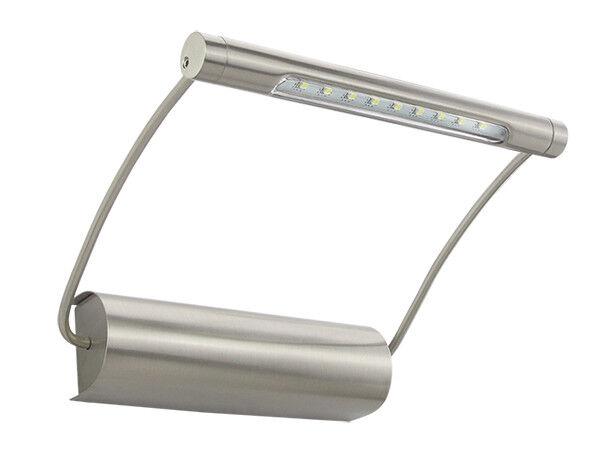 Bioledex lti lampada per illuminazione quadri in acciaio