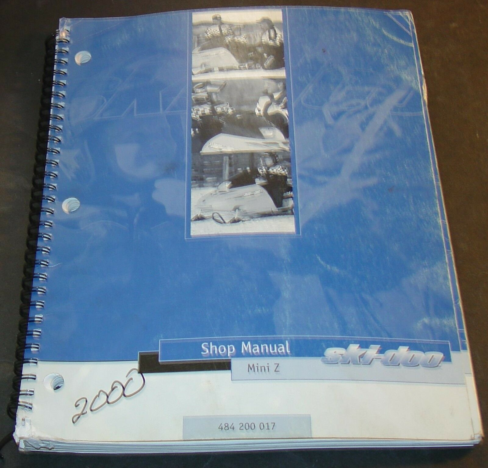 2000 SKI-DOO MINI Z SNOWMOBILE SHOP SERVICE MANUAL P N 484 200 017  (559)