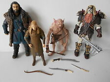 GRINNAH/LEGOLAS/BOLG/THORIN action figure x4 THE HOBBIT Lord of the Rings 2012