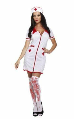 ADULT BLOODY DOCTOR /& NURSE Mens Ladies Halloween Fancy Dress Costume Lot Outfit