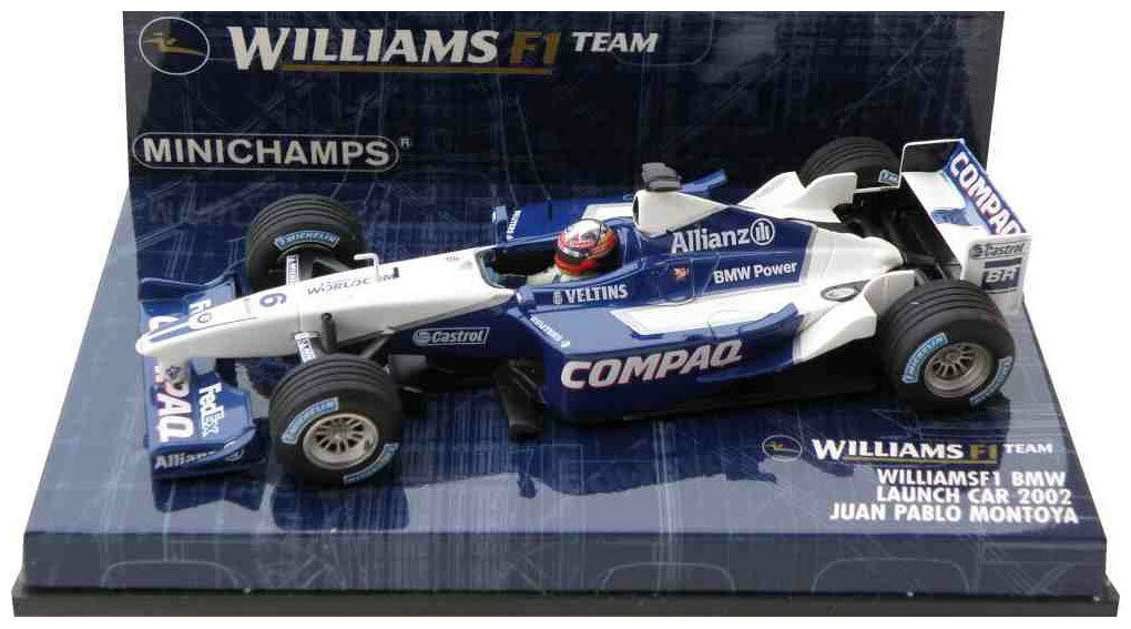 Minichamps Williams F1 Launch Car 2002 - Juan Pablo Montoya 1 43 Scale
