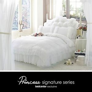 Luxury-White-Ruffle-Lace-Quilt-Duvet-Cover-Bedding-Set-Full-Queen-King-Bedding