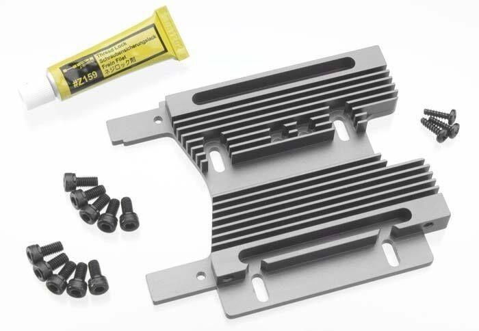 HPI Savage Flux 2.4 HPIC2359 102359 HD Heatsink Mtr Plate 10mm Gris SVG Flux