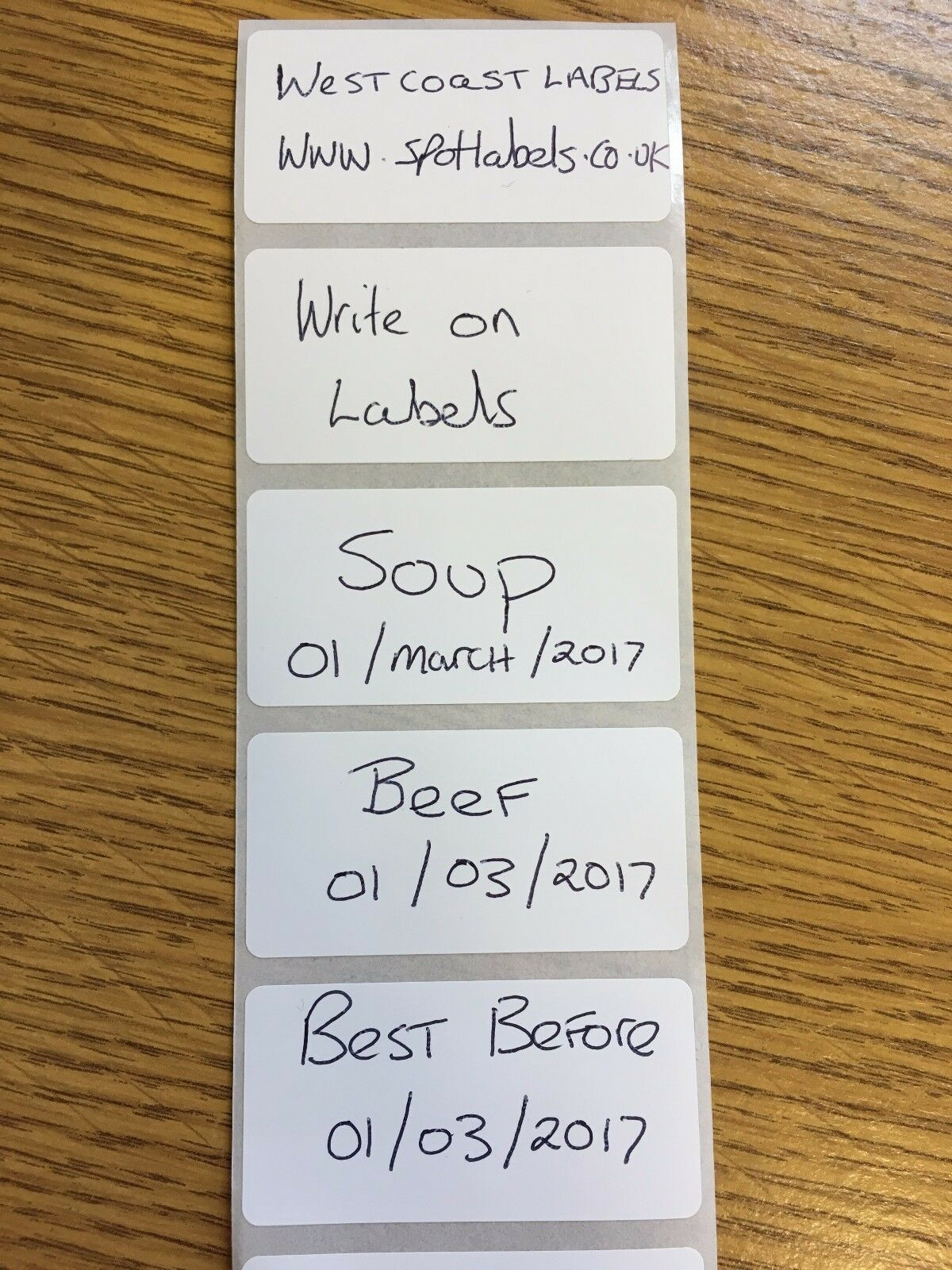 500 X size 50x50 FREEZER ADHESIVE FOOD LABELS WRITE ON FOOD LABELS  Food Storage