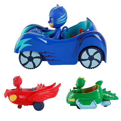 Cute PJ Masks Action Figures Gekko Catboy Owlette Doll Car Set Kids Boy Girl Toy