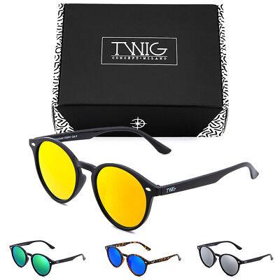 caripe Retro Sonnenbrille Damen Herren Vintage Holzoptik verspiegelt 139big-s961