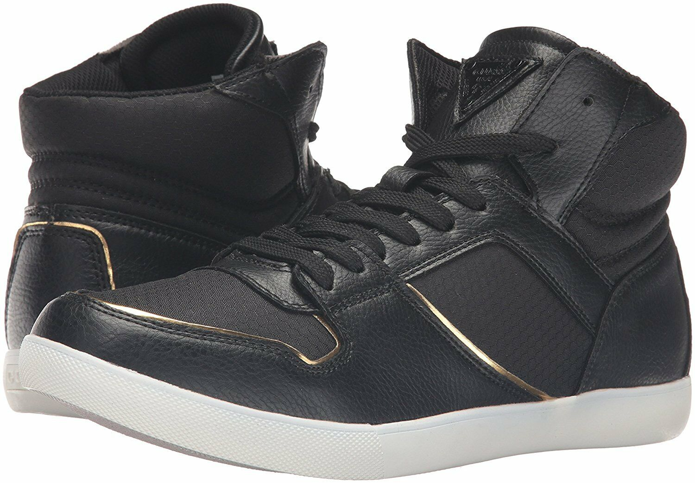 GUESS Men's Jumper Fashion Mid-Top Sneaker,Black,US 9M