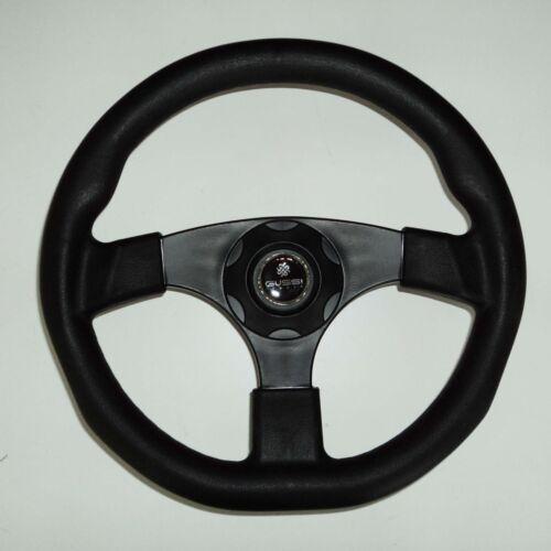 New OEM Gussi Boat Steering Wheel M500 All Black Plastic /& Soft Touch Rim