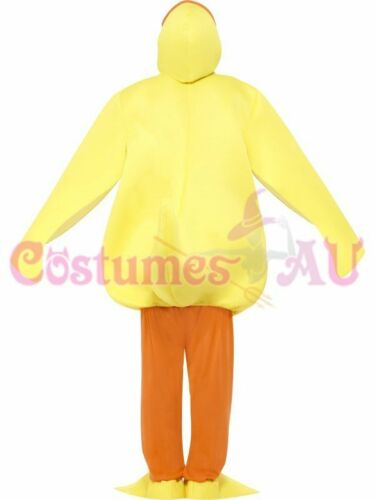 Unisex Duck Yellow Costume Animal Party Fancy Dress Farm Jump suit One si Mascot
