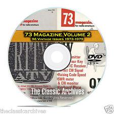 73 Magazine Volume 2, 1972-1979, 96 Vintage Ham Amateur Radio Magazine DVD B97