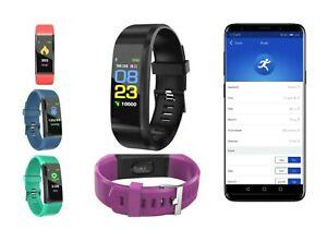 Fitness Armband Uhr Pulsmesser Wasserdicht Aktivitätstrac