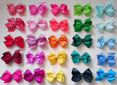 GROSGRAIN RIBBON BOW Rainbow HAIR CLIP PIN ALIGATOR CLIPS FLOWER BABY/GIRL
