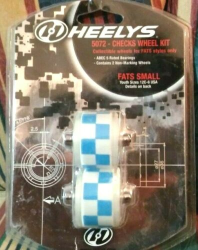 Heelys 5072 Checks Wheel Kit Collectible Wheels For Fats Styles Only Small