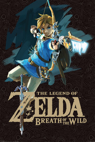 Zelda Breath of the Wild PP34040-75 Maxi Poster Game Cover 61cm x 91.5cm