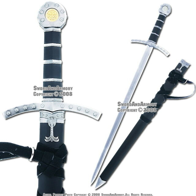 Medieval Crusader Templar Knight Sword Dagger with Sheath