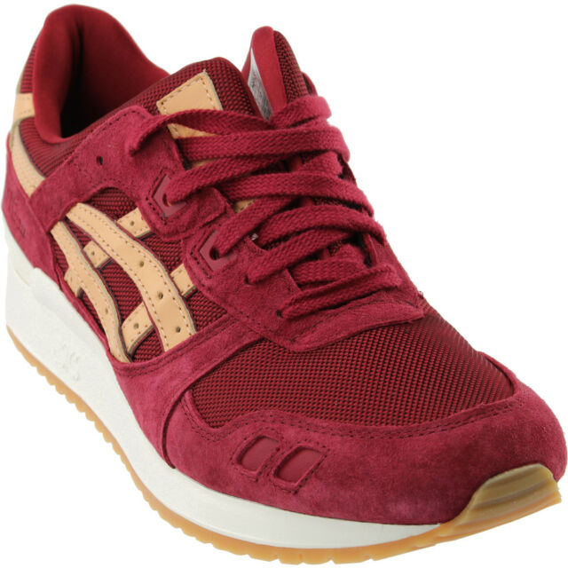 wholesale dealer ddc5c a5d05 ASICS GEL-Lyte III Athletic Shoes - Burgundy - Mens
