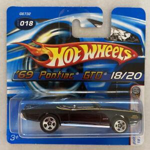 2005 HOTWHEELS 1969 Pontiac GTO Judge 69 NERO MOLTO RARA! Nuovo di zecca! MOC!