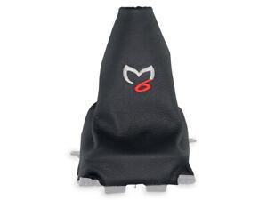 Pour Mazda 6 Gg 02-07 Soufflet Levier De Vitesse En Cuir Broderie Coutures Rouge