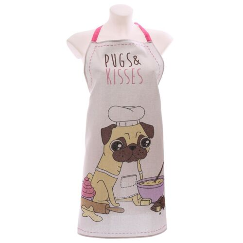 Pugs /& Kisses Tablier atwh Carlin Pinny cuisine et pâtisserie Bake Off cuisine Wear