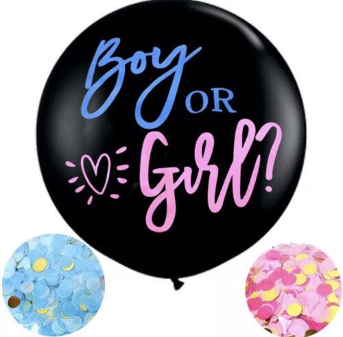 Boy or Girl Gender Reveal Baby Shower Decorations Balloons Banner Topper He She