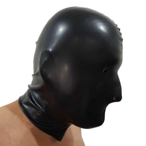one size Brand New Black Latex Rubber Gummi Hood Mask