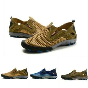 Mens-athletic-Slip-On-Hollow-Out-Leisure-Loafers-Breathable-Mesh-Outdoor-Shoes