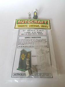 1930s Aa Box & Patrol Man Figure N Gauge 2mm Metal & Card Model Kit 100% D'Origine