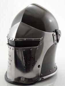 Super-Medieval-Barbute-Helmet-Armour-Helmet-Roman-knight-helmets-Handmade-New