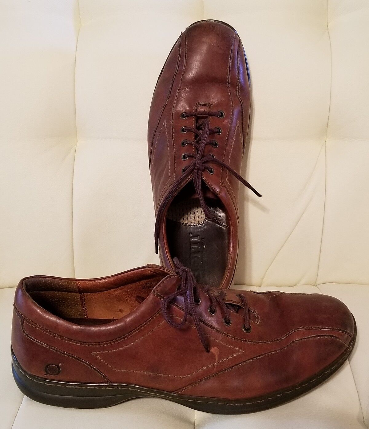 Born Mens Brown Lace Up shoes dress casual leather 11.5