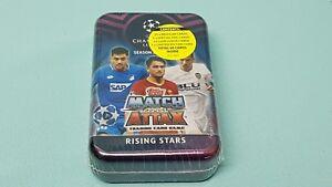 Topps-Match-Attax-Champions-League-2018-2019-Tin-Box-mit-15-Rising-Stars-Cards