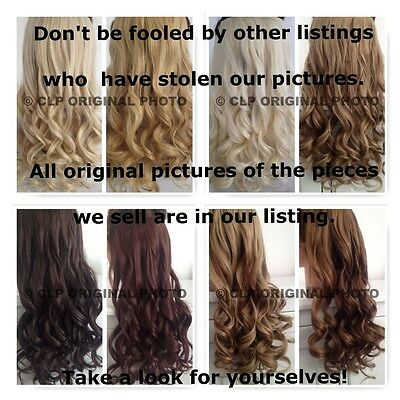 Uk Clip In Hair Extensions Thick, Long, Full Head Natural, Real Hair Look