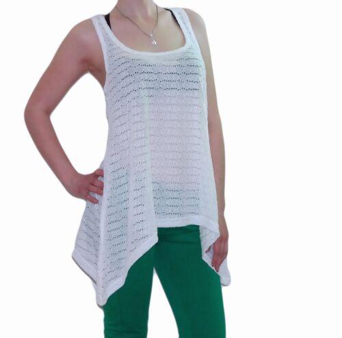 Damen Mädchen Netz Tunika in Tank Mädels Top Style T-Shirt Oberteil Neon Farben