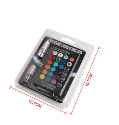 2xT10 5050 Remote Control Car Led Bulb 6 Smd Multicolor W5w 501 Side Light Bulbs