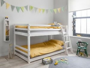Cabin Bed Midsleer Bunk Bed Hilda In White Kids Bed Childrens Bunk